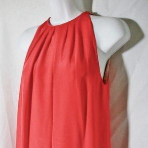 New CELINE Gathered Bare Shoulder Sleeveless Dress